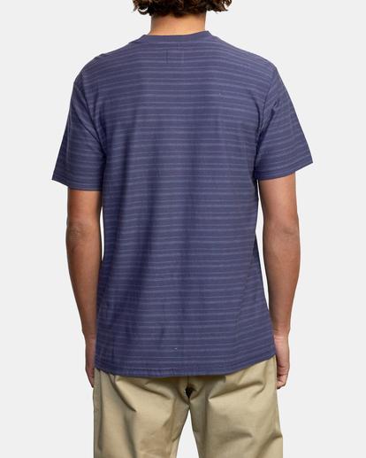2 Texture Stripe - T-shirt pour Homme Bleu W1KTRDRVP1 RVCA