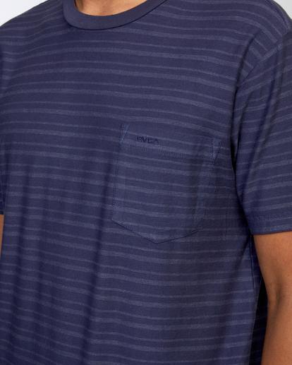 3 Texture Stripe - T-shirt pour Homme Bleu W1KTRDRVP1 RVCA