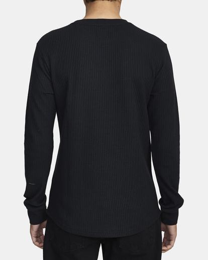 2 Recession Collection Day Shift - Haut thermique manches longues pour Homme Noir W1KTRKRVP1 RVCA