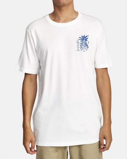 0 Aloha Shop - T-shirt pour Homme Blanc W1SSICRVP1 RVCA