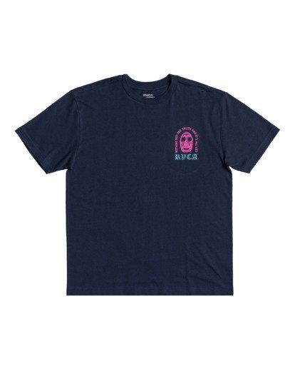 1 Superblast Chaos - T-shirt pour Homme Bleu W1SSRERVP1 RVCA