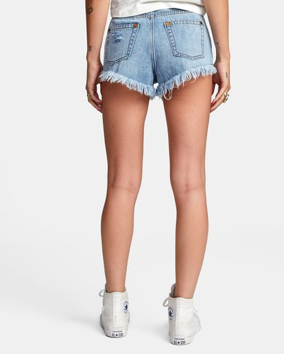 1 Elle High Rise Denim Shorts Black W2032REL RVCA