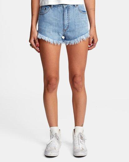 0 Elle High Rise Denim Shorts Black W2032REL RVCA