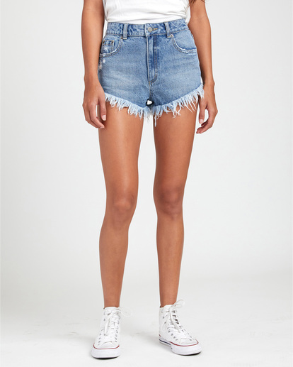 0 Elle High Rise Denim Shorts  W2032REL RVCA