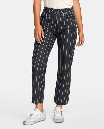 0 Holli High Rise Straight Jeans Black W303VRHO RVCA