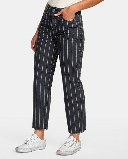 2 Holli High Rise Straight Jeans Black W303VRHO RVCA