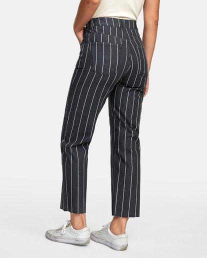 4 Holli High Rise Straight Jeans Black W303VRHO RVCA