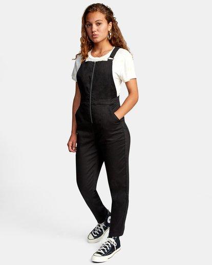 2 Recession Collection Moonshine - Salopette zippée pour Femme Noir W3ONRJRVP1 RVCA