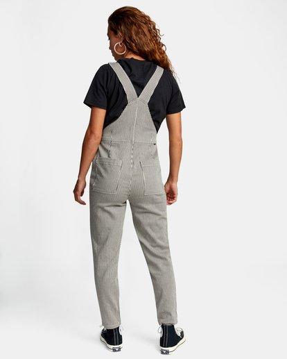 1 Recession Collection Moonshine - Salopette zippée pour Femme Gris W3ONRJRVP1 RVCA