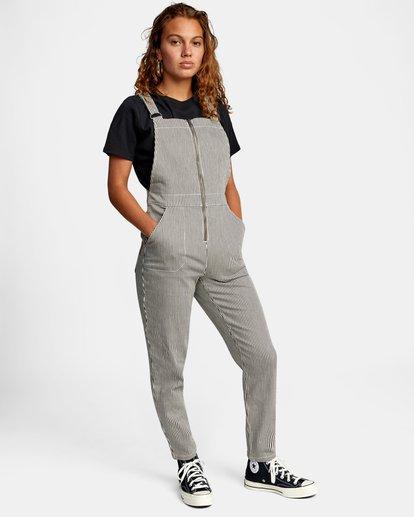 4 Recession Collection Moonshine - Salopette zippée pour Femme Gris W3ONRJRVP1 RVCA