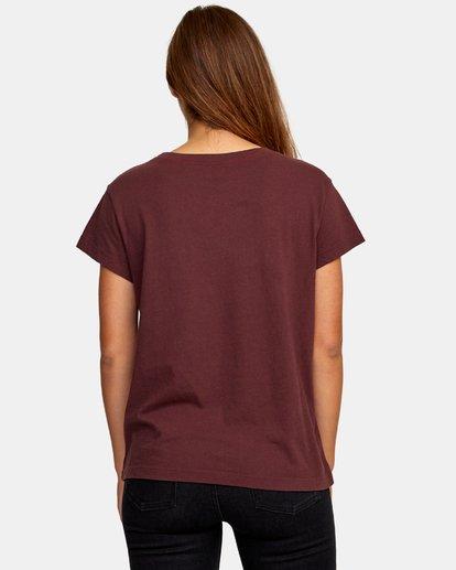 1 Pinscript Pocket T-Shirt Brown W412WRPI RVCA