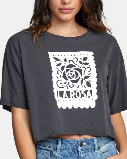 1 LA ROSA CROPPED T-SHIRT Black W4411RLR RVCA