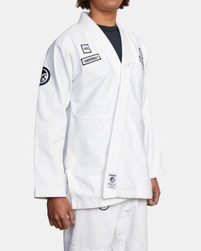 4 RVCA X Bedwin X Shoyoroll - Gi de jiu-jitsu pour Homme Blanc W4ESRARVP1 RVCA