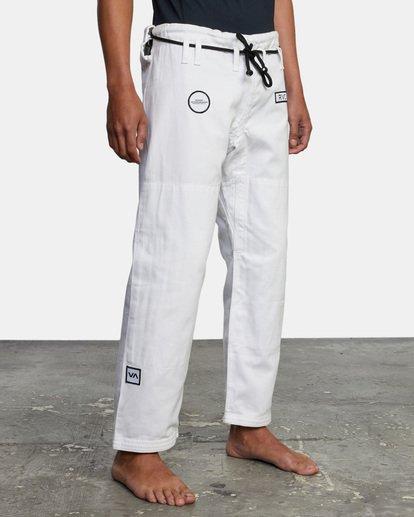 6 RVCA X Bedwin X Shoyoroll - Gi de jiu-jitsu pour Homme Blanc W4ESRARVP1 RVCA