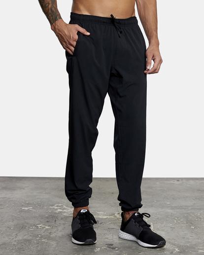 8 VA Sport Yogger II - Pantalón de chándal para Hombre Negro W4PTMFRVP1 RVCA