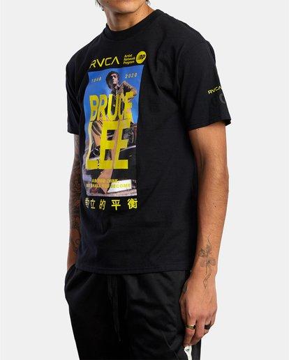 4 Bruce Lee As You Think - T-shirt pour Homme Noir W4SSMORVP1 RVCA