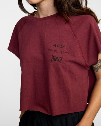 2 Everlast Raglan Muscle - T-shirt sans manches pour Femme Marron W4TPWFRVP1 RVCA