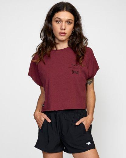 0 Everlast Raglan Muscle - T-shirt sans manches pour Femme Marron W4TPWFRVP1 RVCA