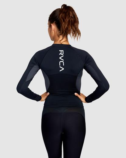 1 Compression - Haut de sport manches longues pour Femme Noir W4TPWHRVP1 RVCA