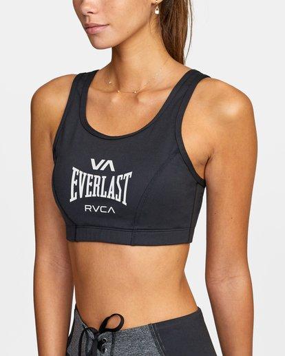 2 Everlast x RVCA - Brassière de sport pour Femme Noir W4UNWDRVP1 RVCA