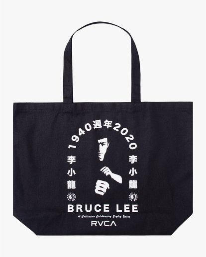 0 Bruce Lee Eighty Years - Bolsa Tote con Asas para Unisex Negro W5BGRERVP1 RVCA
