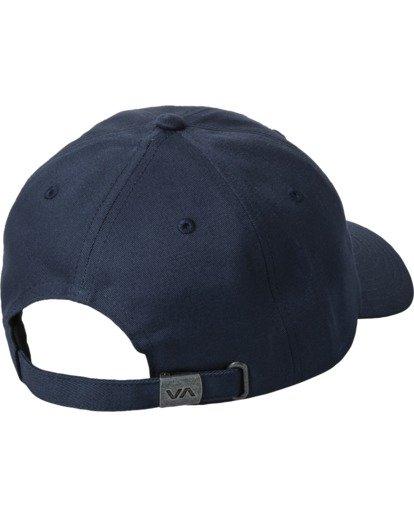 1 Draft - Strapback Cap for Men Blue W5CPRIRVP1 RVCA