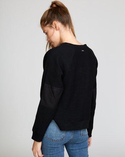 1 Leverage Fleece Sweatshirt Black W602VRLE RVCA