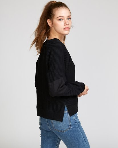 0 Leverage Fleece Sweatshirt Black W602VRLE RVCA