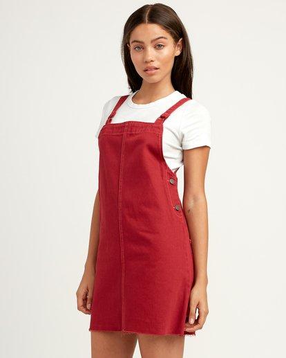 3 Neo Pinny Denim Overall Dress Yellow WD20QRNE RVCA
