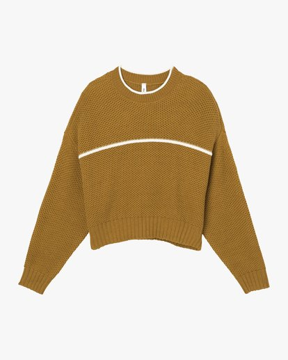 4 Jammer Cropped Knit Sweater  WV05SRJA RVCA