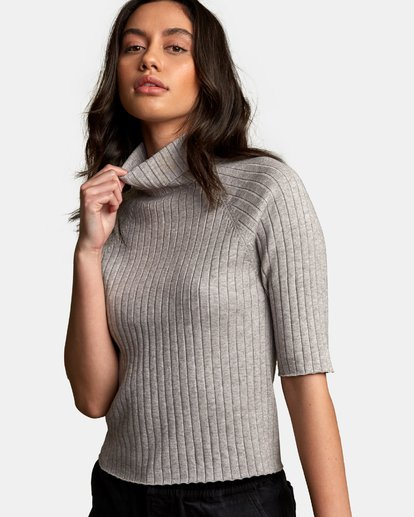 3 Believer Ribbed Sweater  WV10WRBE RVCA