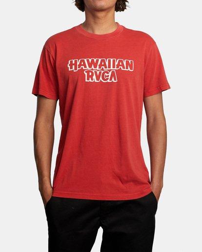 1 Evan Mock RVCA Punch - T-shirt pour Homme Rouge X1SSRHRVS1 RVCA