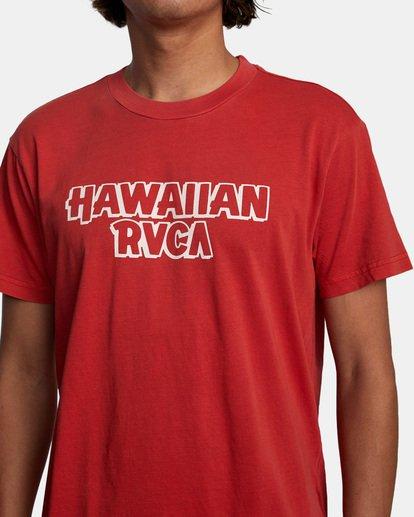 5 Evan Mock RVCA Punch - T-shirt pour Homme Rouge X1SSRHRVS1 RVCA