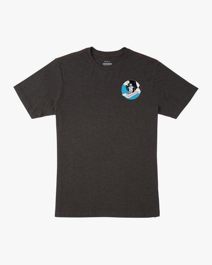0 Luke Pelletier Skull Shred - T-shirt pour Homme Noir X1SSRTRVS1 RVCA