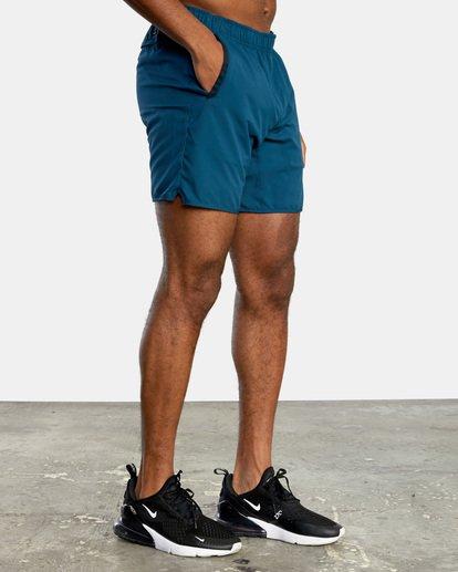 7 VA Sport Yogger IV - Short elástico para Hombre Azul X4WKMLRVMU RVCA