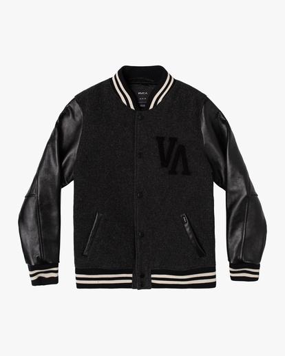 0 Letterman - College-Jacke für Männer Schwarz Z1JKRFRVF1 RVCA