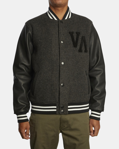 1 Letterman - College-Jacke für Männer Schwarz Z1JKRFRVF1 RVCA