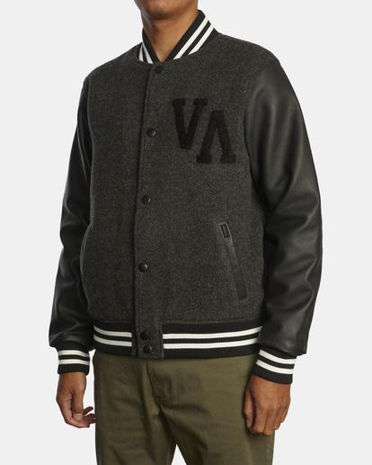 4 Letterman - College-Jacke für Männer Schwarz Z1JKRFRVF1 RVCA