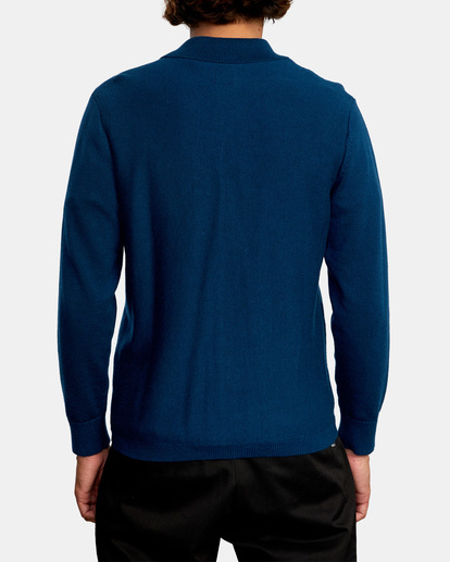 2 Kevin Spanky Long Okapi - Pull pour Homme Bleu Z1JPRERVF1 RVCA