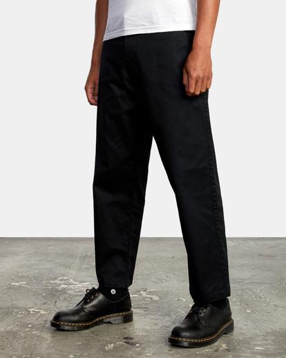 4 Kevin Spanky Long Okapi - Pantalones para Hombre Negro Z1PTRHRVF1 RVCA