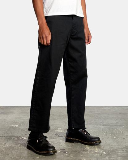6 Kevin Spanky Long Okapi - Pantalones para Hombre Negro Z1PTRHRVF1 RVCA