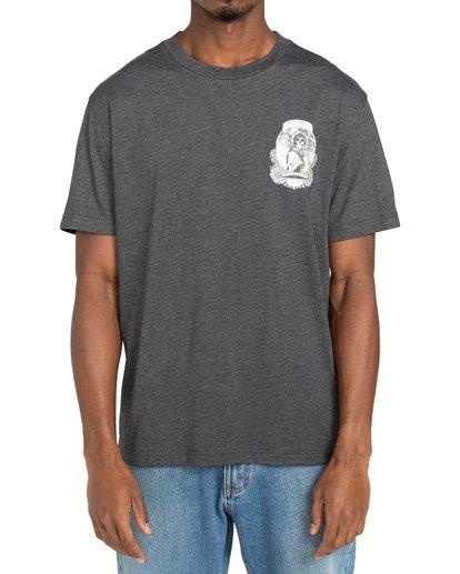 2 George Thompson Skull Bonnet - T-shirt pour Homme Gris Z1SSRMRVF1 RVCA