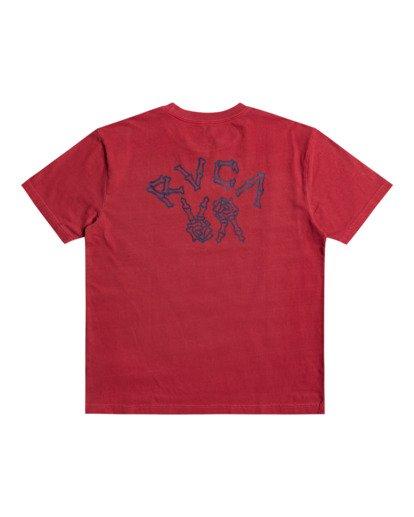 0 Peace Bones - T-shirt pour Homme Rouge Z1SSRVRVF1 RVCA