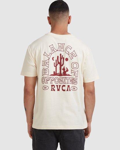1 Joshua Tree - T-shirt pour Homme Blanc Z1SSSFRVF1 RVCA