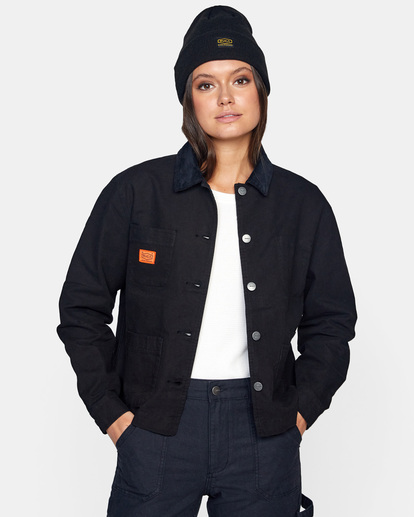 0 Recession - Chore Coat for Women Black Z3JKRKRVF1 RVCA