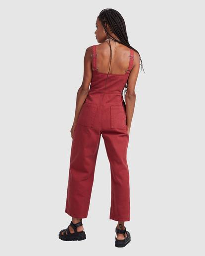 1 Railway Jumper - Combinaison en jean pour Femme Rose Z3ONRDRVF1 RVCA