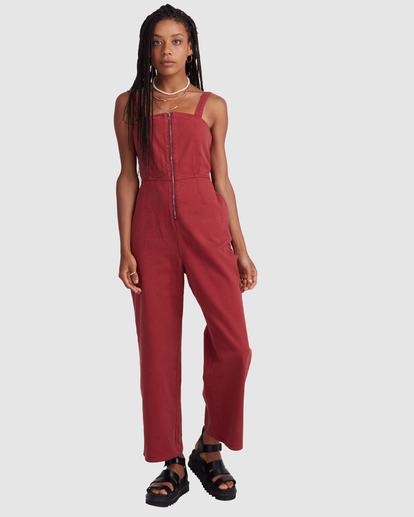 0 Railway Jumper - Combinaison en jean pour Femme Rose Z3ONRDRVF1 RVCA