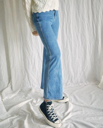 5 Camille Rowe Livin' - High Waisted Jeans for Women Blue Z3PNRBRVF1 RVCA