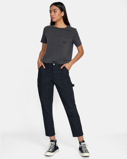 3 Recession - Chinos for Women Black Z3PTRMRVF1 RVCA