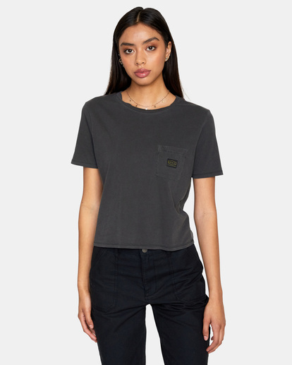 0 Recession Vanagain - Camiseta para Mujer Negro Z3SSSARVF1 RVCA